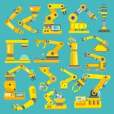 Robotic arm flat Stock Image