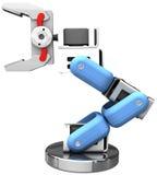 Robotic arm hand technology isolated. Robotic arm technology isolated hand holds your object royalty free illustration
