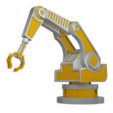 Robotic arm isolated on white 3d rendering Royalty Free Stock Photography