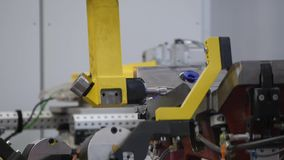 Robotic arm - measurement product stock video