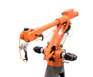 Robotic arm at production line Royalty Free Stock Photo