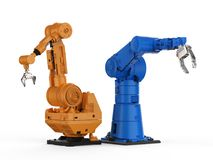 Robotic arm or robot hand. 3d rendering robotic arm or robot hand Royalty Free Stock Image