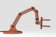 Robotic arm. A robot arm for precise, faster work Royalty Free Stock Image