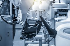 The robotic arm spray the painting in automotive parts . The robotic arm spray the painting in automotive parts manufacturing process.The industrial 4.0 royalty free stock photography