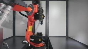 Robotic arm Velder arkivfilmer