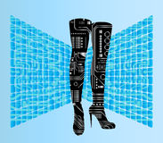 Robotic boots Royalty Free Stock Images