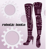 Robotic boots Stock Images