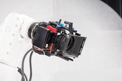 Robotic camera for broadcasting at television. Robotic camera for broadcasting on television Royalty Free Stock Image