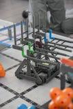 Robotic class. Student robotic class project children Stock Photo