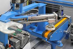 Robotic conveyor system Stock Image