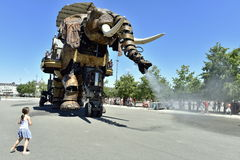 Robotic Elephant in Nantes, France Stock Photography