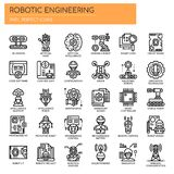 Robotic Engineering , Pixel Perfect Icons royalty free illustration