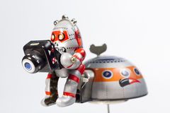 Robotic exploration. And his camera Royalty Free Stock Photo
