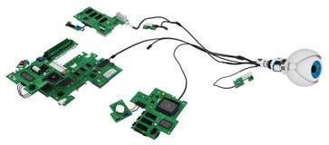 Robotic Eye Circuits Stock Image