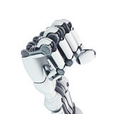 Robotic fist. Isolated robotic fist on white background Stock Photo