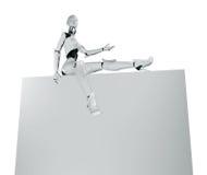 Robotic flicka sexiga presentation 库存照片