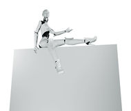Robotic girl's sexy presentation Stock Photos