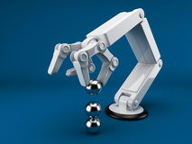 Robotic Hand Holding Sphere 3d. AI Stock Photography