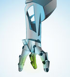 Robotic hand manipulating vector Royalty Free Stock Image