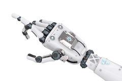 Robotic hand pointing Stock Photo