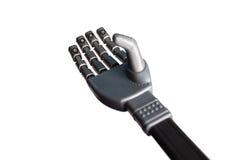 Robotic hand som isoleras på vit Royaltyfria Foton