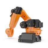 Robotic handmaskinhjälpmedel på vit 3D illustration, snabb bana royaltyfri illustrationer