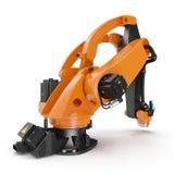 Robotic handmaskinhjälpmedel som isoleras på vit 3D illustration, snabb bana Arkivfoton