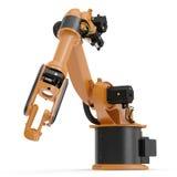 Robotic handmaskinhjälpmedel som isoleras på vit 3D illustration, snabb bana stock illustrationer