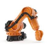 Robotic handmaskinhjälpmedel som isoleras på vit 3D illustration, snabb bana royaltyfri illustrationer