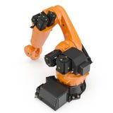 Robotic handmaskinhjälpmedel som isoleras på vit 3D illustration, snabb bana Royaltyfri Bild