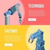 Robotic arms of conveyor stock illustration