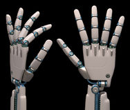 Robotic Hands Stock Image