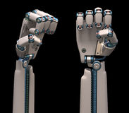 Robotic Hands Royalty Free Stock Photography