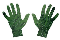 Robotic hands Royalty Free Stock Photo
