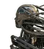 Robotic head backward Royalty Free Stock Image