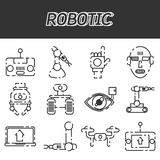 Robotic icon set. Vector illustration EPS 10 Stock Images