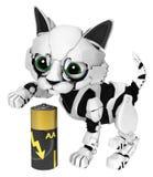 Robotic Kitten, Battery Stock Photo