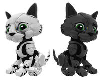 Robotic Kitten, Black and White Stock Photography