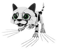 Robotic Kitten, Claw Scratch Royalty Free Stock Images
