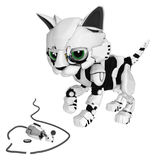 Robotic Kitten, Dead Mouse Royalty Free Stock Images