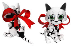 Robotic Kitten, Ribbon Stock Photos