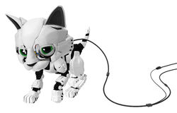 Robotic Kitten, Wired Royalty Free Stock Image