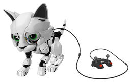 Robotic Kitten, Wired Controller Stock Photography