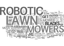 Are Robotic Lawn Mowers Safe Word Cloud Stock Photo
