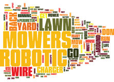 Are Robotic Lawn Mowers In Your Future Word Cloud Concept Stock Photos