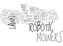 Are Robotic Lawn Mowers In Your Future Word Cloud Stock Photos