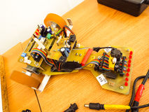 Robotic machine with electronic parts Stock Images