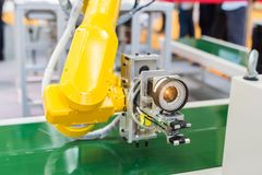 Robotic machine vision system. In factory Stock Image