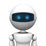 Robotic man portrait. 3d portrait of a robotic man with blue eyes Royalty Free Stock Photography