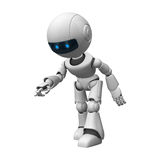 Robotic man walking Royalty Free Stock Photos